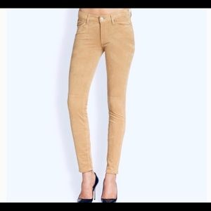 7 FOR ALL MANKIND Sz 25 THE SUEDED SKINNY PANTS